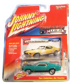 MUSCLE CARS U.S.A -  1970 FORD MUSTANG MACH 1 - GREEN -  JOHNNY LIGHTNING 6
