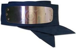 NARUTO -  HIDDEN LEAF VILLAGE METALLIC HEADBAND (KONOHAGAKURE NO SATO) - BLUE
