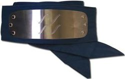 NARUTO -  HIDDEN MIST VILLAGE METALLIC HEADBAND (KIRIGAKURE NO SATO) - BLUE