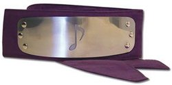 NARUTO -  HIDDEN SOUND VILLAGE METALLIC HEADBAND (OTOGAKURE NO SATO) - PURPLE