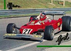 NASCAR SINGLES -  CARD 153 -  GILLE VILLENEUVE