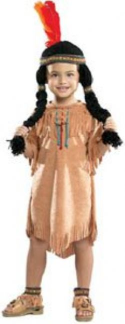 NATIVE AMERICAN -  INDIAN GIRL COSTUME (INFANT & TODDLER)