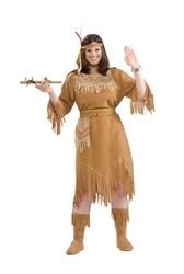 NATIVE AMERICAN -  NATIVE AMERICAN GIRL COSTUME (ADULT - PLUS SIZE 16-22)