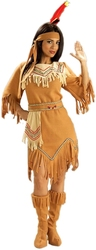 NATIVE AMERICAN -  NATIVE AMERICAN MAIDEN COSTUME (ADULT - ONE SIZE)
