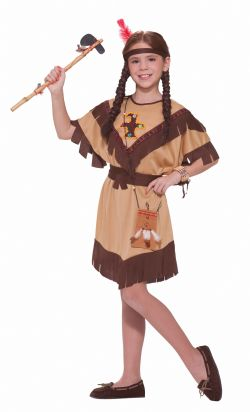 NATIVE AMERICAN -  PRINCESS LILLY COSTUME (CHILD)