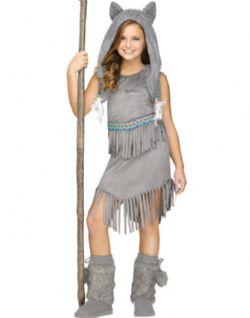 NATIVE AMERICAN -  WOLF DANCER COSTUME (CHILD - MEDIUM 8-10)