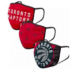 NBA -  FACE MASK - SET OF 3 -  TORONTO RAPTORS