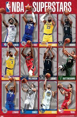 NBA -  NBA LEAGUE - SUPERSTARS 2020 22X34