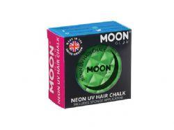 NEON UV HAIR CHALK -  INTENSE GREEN -  MOON GLOW