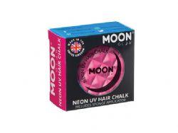 NEON UV HAIR CHALK -  INTENSE PINK -  MOON GLOW
