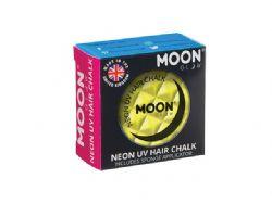 NEON UV HAIR CHALK -  INTENSE YELLOW -  MOON GLOW