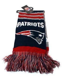 NEW ENGLAND PATRIOTS -  BLUE AND GREY SCARF