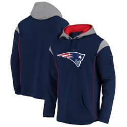 NEW ENGLAND PATRIOTS -  BLUE PULLOVER WITH HOOD