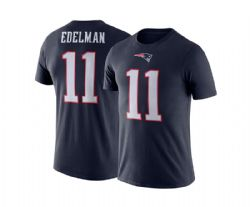 NEW ENGLAND PATRIOTS -  JULIAN EDELMAN #11 T-SHIRT - NAVY BLUE (LARGE)