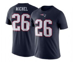 NEW ENGLAND PATRIOTS -  SONY MICHEL #26 T-SHIRT - NAVY BLUE