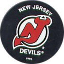 NEW JERSEY DEVILS -  LOGO PUCK