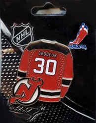 NEW JERSEY DEVILS -  MARTIN BRODEUR HOME PIN
