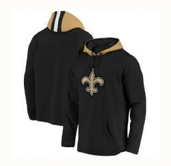 NEW ORLEANS SAINTS -  BLACK PULLOVER WITH HOOD