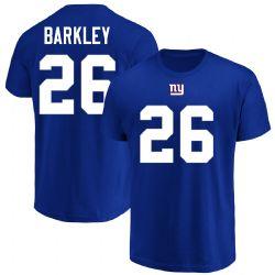 NEW YORK GIANTS -  SAQUON BARKLEY #26 T-SHIRT - BLUE (SMALL)