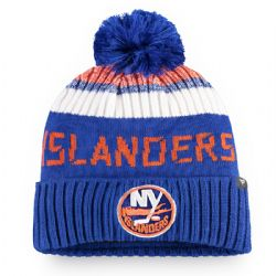 NEW YORK ISLANDERS -  BEANIE WITH POMPOM - BLUE