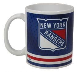 NEW YORK RANGERS -  11 OZ WHITE/BLUE JERSEY MUG