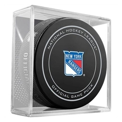NEW YORK RANGERS -  OFFICIAL GAME PUCK IN PLASTIC CASE