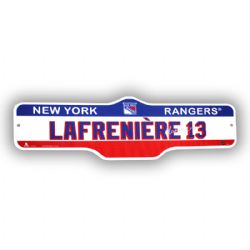 NEW YORK RANGERS -  PLAYER STREET SIGN 13 -  ALEXIS LAFRENIÈRE