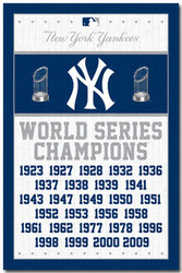NEW YORK YANKEES -  2013 CHAMPIONS POSTER (22