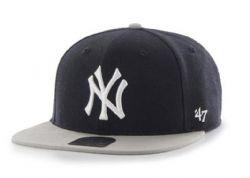 NEW YORK YANKEES -  BLACK/GREY SNAPBACK CAP