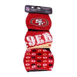 NFL -  FACE MASK - PACK OF 3 SAN FRANCISCO 49ERS -  SAN FRANCISCO 49ERS