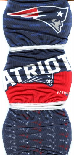 NFL -  FACE MASK - SET OF 3 -  NEW ENGLAND PATRIOTS