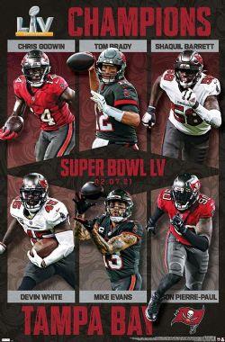 NFL -  NFL TAMPA BAY BUCCANEERS - COMMEMORATIVE SUPER BOWL LV CHAMPIONS (22X34