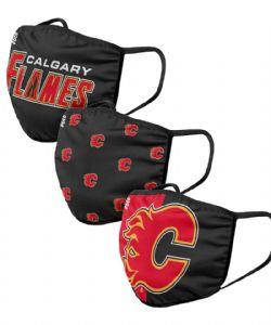 NHL -  FACE MASK - SET OF 3 -  CALGARY FLAMES