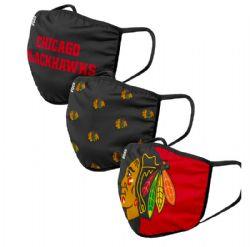 NHL -  FACE MASK - SET OF 3 -  CHICAGO BLACKHAWKS