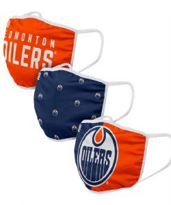 NHL -  FACE MASK - SET OF 3 -  EDMONTON OILERS