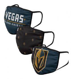 NHL -  FACE MASK - SET OF 3 -  VEGAS GOLDEN KNIGHTS