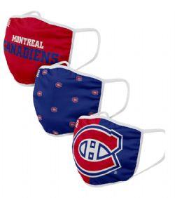 NHL -  FACE MASKS - SET OF 3 -  MONTRÉAL CANADIANS