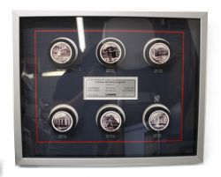 NHL -  FRAMED SIGNED PUCKS (ORIGINAL SIX'S ARENA)
