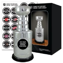 NHL -  STANLEY CUP REPLICA COIN BANK (13