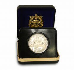 NICKEL SPECIMEN DOLLARS -  VOYAGEUR DESIGN - NO ISLAND VARIETY -  1968 CANADIAN COINS 01