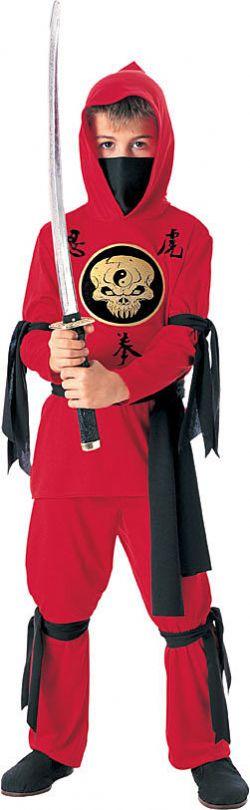 NINJA -  NINJA COSTUME - RED (CHILD)