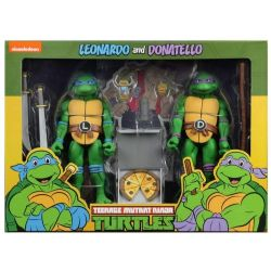 "NINJA TURTLE -  LEONARDO & DONATELLO – SCALE ACTION FIGURE (7"")"