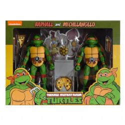 "NINJA TURTLE -  RAPHAEL & MICHELANGELO – SCALE ACTION FIGURE (7"")"
