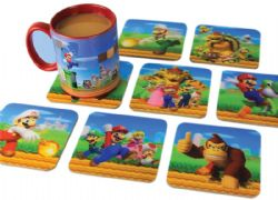 NINTENDO -  8 3D COASTERS SET -  SUPER MARIO BROS.