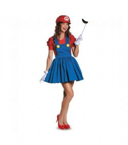 NINTENDO -  MARIO COSTUME (TEEN - X-LARGE 14-16) -  SUPER MARIO