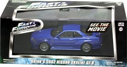 NISSAN -  BRIAN'S 2002 NISSAN SKYLINE GT-R 1/43 - BLUE -  FAST AND FURIOUS
