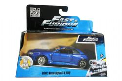 NISSAN -  BRIAN'S SKYLINE GT-R (R34) 1/32 - BLUE - ONE OF THE BACK RIM IS DIFFERENT -  FAST AND FURIOUS