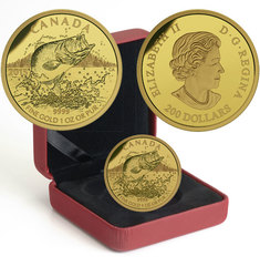 NORTH AMERICAN SPORTFISH -  LARGEMOUTH BASS -  2015 CANADIAN COINS
