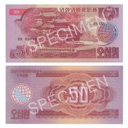 NORTH KOREA -  50 WON 1988 (UNC) -