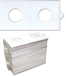 NUMIS -  100 2X2 HOLDER SELF-ADHESIVE FOR COIN UP TO 0.8